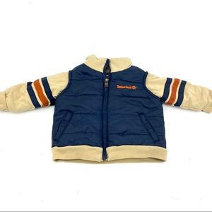 Timberland retro style infant puffer jacket 6-9m
